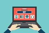 Vector internet shopping. Flat style design — Stock Vector
