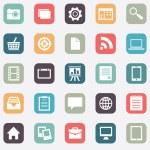 Set of social media buttons for design — Stock Vector #37093941