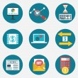 Vector flat set of business and management icons - part 2 — Stockvektor