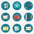Vector flat set of business and management icons - part 3 — Wektor stockowy  #39965407