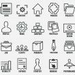 Set of outline seo and internet service icons for design - part 1 — Stock Vector