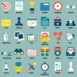 Set of flat business, commerce, interne service icons for design - part 1 — Stock Vector #43736387