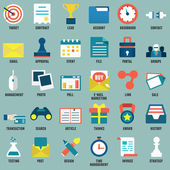 Set of flat business, commerce, interne service icons for design - part 1 — Stock Vector