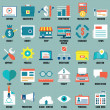 Set of flat business, commerce, internet service icons for design - part 2  — Stock Vector #43990613