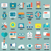 Set of flat business, commerce, internet service icons for design - part 2  — Stock Vector