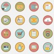 Set of vector retro business icons - part 2 — Stock Vector