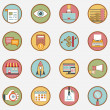 Set of vector retro business icons - part 1 — Stock Vector #44296807