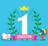 éxito y educación — Vector de stock