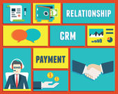 Customer relationship management and payment service — Vettoriale Stock