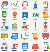 Set of business and development icons. Customer relationship management and service — Stock vektor