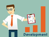 Businessman and development, productivity of business — Stockvektor