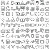 Set of vector business outline icons for design — Stock Vector