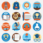 Set of education icons for design — Stock Vector