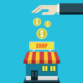 Investment in the business. Costs and profits — 图库矢量图片