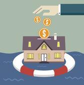 Notion d'assurance maison — Vecteur