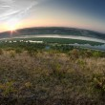 Sunrise on river — Stock Photo #19583323
