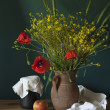 Stilleven met papaver — Stockfoto #36652103