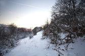 Góra zima — Zdjęcie stockowe