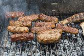 Maso na grilu — Stock fotografie