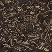 Seamless dinosaur bones pattern — Stock Vector