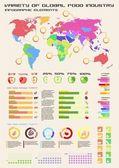 Food infographics elements — Stock Vector
