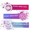Royalty-Free Stock Vector Image: Colorful Grunge Banners with floral elements