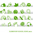 Education Icons, basics, elementary school — Stock Vector #21518577