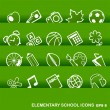 Education Icons, basics, elementary school — Stock Vector #21518593