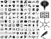 100 education icons — Stock Vector