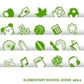 Education Icons, basics, elementary school — Stock Vector