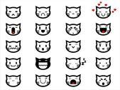 Cat face smilings — Stock Vector