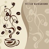 Coffee vector background — Stock Vector