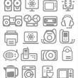 Royalty-Free Stock Vector Image: Media and household appliances Icons