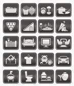 Interior icons — Stock Vector