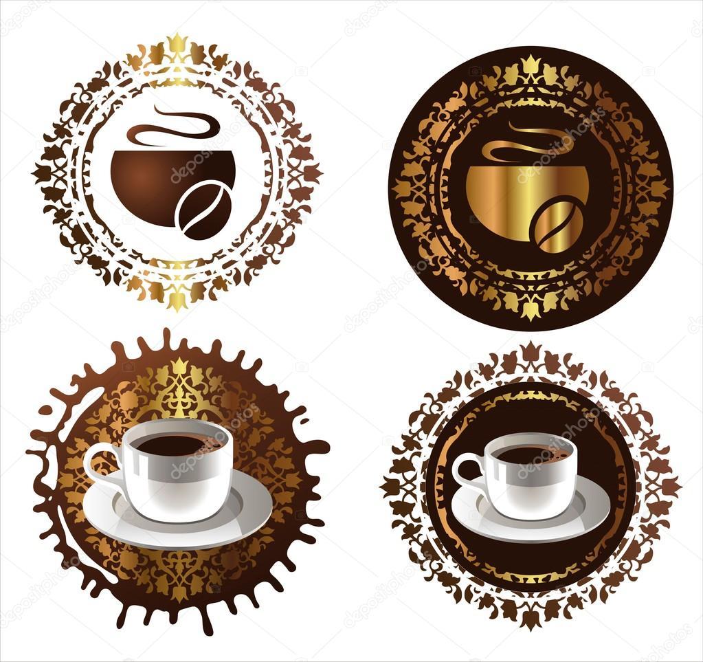 咖啡的设计元素.矢量插画