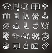 25 school and college icons — Stock Vector