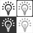 Light bulb vector icon — Stock Vector