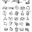 Doodle school and college icons — Stock Vector
