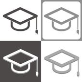Graduate hat vector icon — Stock Vector
