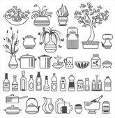 Kitchen tools and utensils. Vector illustration — Stock Vector
