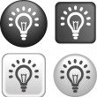 Lamp Icon on Buttons Collection — ベクター素材ストック