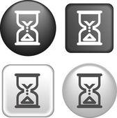 Icono de reloj de arena en la colección de botones — Vector de stock