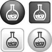 Test tube Icon on Buttons Collection — Stock Vector