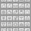 Buttons witn food icons. Vector illustration — Stock Vector