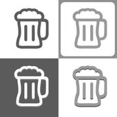 Beer mug vector icon — Stock Vector
