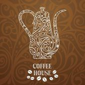 Coffee background, vector illustration — Stock Vector
