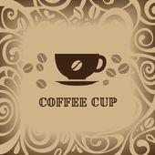 Fundo de café, ilustração vetorial — Vetor de Stock