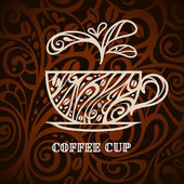 Coffee background, vector illustration — Vettoriale Stock