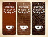 Coffee cup vector banners — Stock Vector