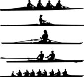 Rowing collection — Stock Vector